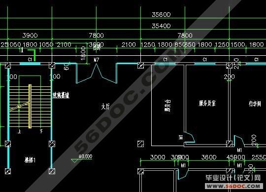 四层框架结构温泉度假酒店客房楼设计_毕业设计论文网