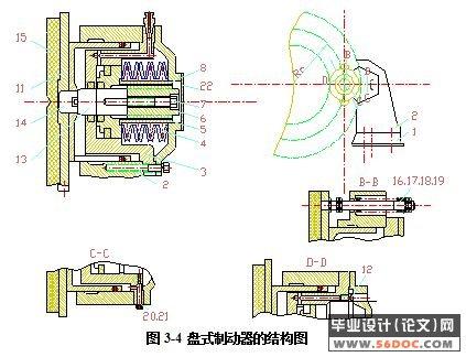 提升机制动系统设计(液压盘式制动器)