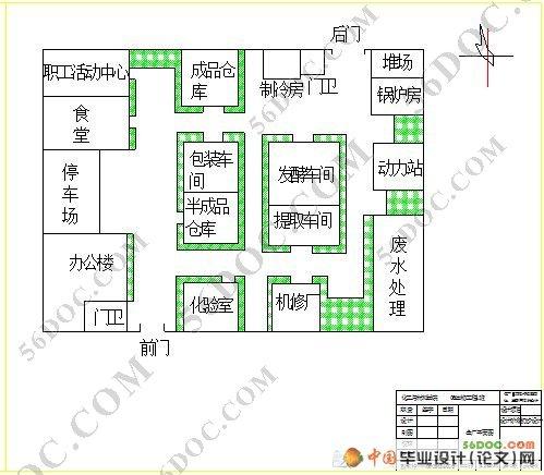 本设计还包括发酵罐,全厂平面图,车间平面布置图,工艺流程图.