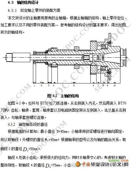 xk100立式数控铣床主轴部件设计