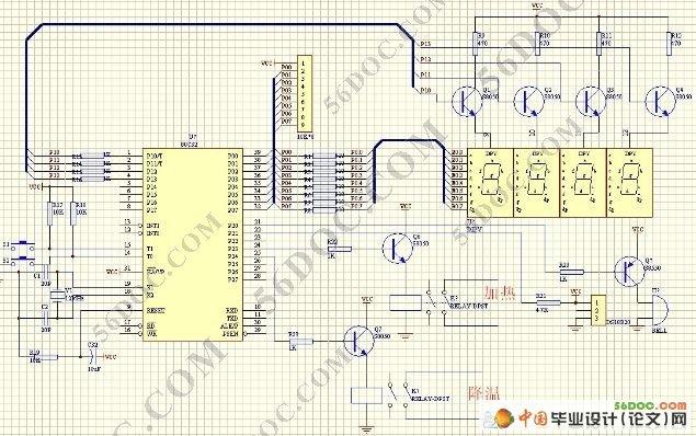 摘 要 恒温控制在工业生产过程中举足轻重,温度的控制直接影响着工业生产的产量和质量。本设计是基于AT89C51的恒温箱控制系统,系统分为硬件和软件两部分,其中硬件包括:温度传感器、显示、控制和报警的设计;软件包括:键盘管理程序设计、显示程序设计、控制程序设计和温度报警程序设计。编写程序结合硬件进行调试,能够实现设置和调节初始温度值,进行数码管显示,当加热到设定值后立刻报警。另外,本系统通过软件实现对按键误差、加热过冲的调整,以提高系统的安全性、可靠性和稳定性。本设计从实际应用出发选取了体积小、精度相对高的