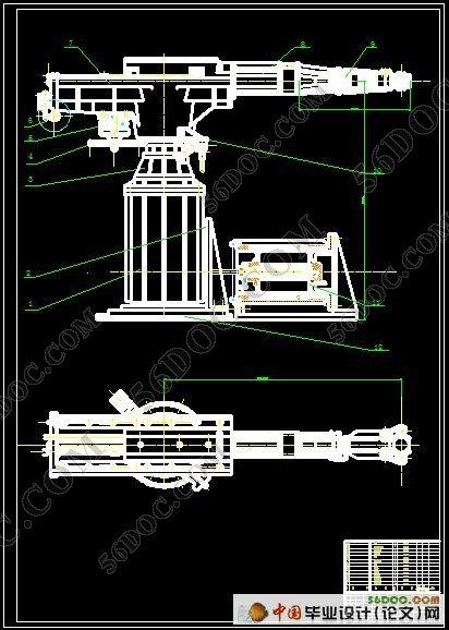 (2)设计要求:  a,上料机械手结构设计图