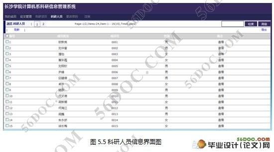 计算机系科研信息管理系统的设计与实现_毕业设计论文