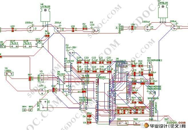 出租车计价器的设计(附电路图,原理图,cad和pcb图)
