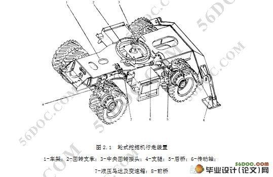 液压挖掘机行走装置设计