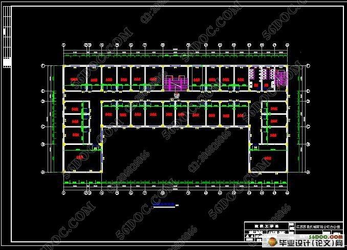 二层半楼别墅基础图