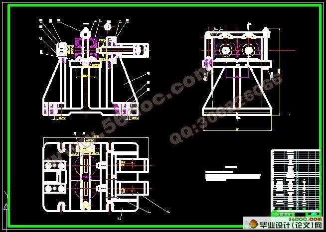 接待台CAD柜体结构图