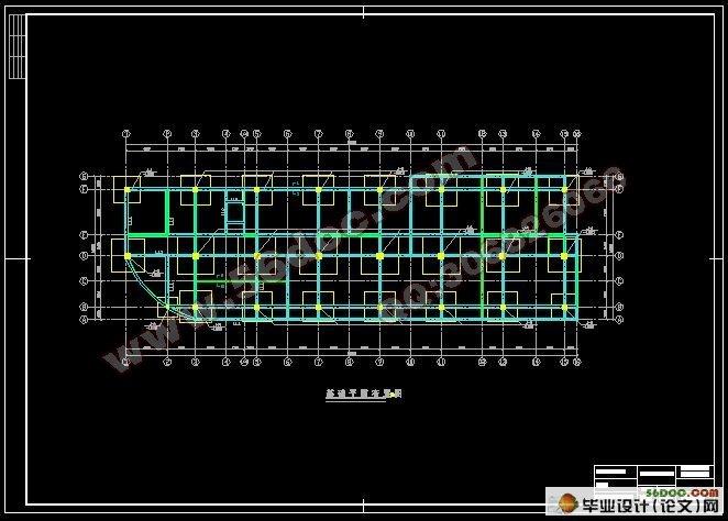毕业设计 建筑结构  唐山市兴达房地产公司五层4000平米综合办公楼