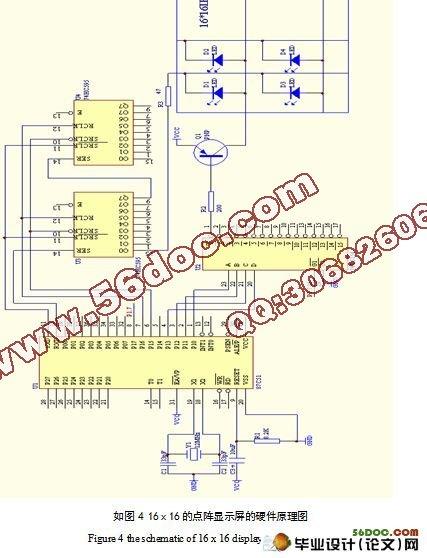 基于单片机的led汉字点阵显示系统的设计(含原理图,程序)