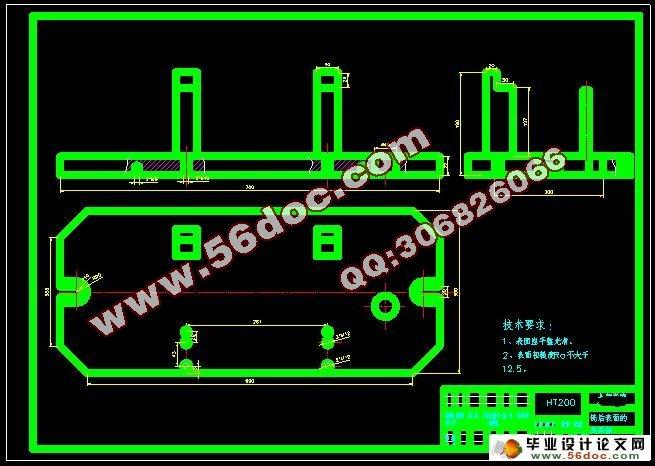 内燃机进气管玉柴200系列夹具设计(含工序卡)