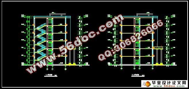 """六层4700平米大连大学办公楼设计(建筑图,结构图,总平面图)(任务书,计算书27000字,CAD建筑图10张,结构图9张,总平面图1张) 摘 要 本工程为办公楼,采用框架结构,主体为六层,本地区抗震设防烈度为7度,场地类别为II类场地。基本风压0.65KN/M。楼屋盖均采用现浇钢筋混凝土结构。 本设计贯彻""""实用、安全、经济、美观""""的设计原则。按照建筑设计规范,认真考虑影响设计的各项因素。根据结构与建筑的总体与细部的关系。 本设计主要进行了结构方案中横向框架第12轴抗震设计。在确定"""