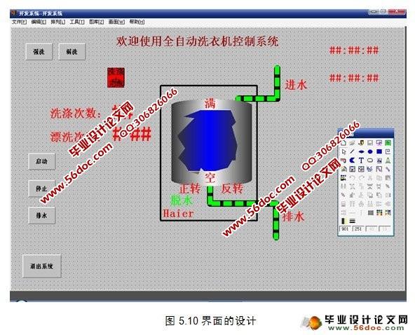 全自动洗衣机控制系统设计(PLC)(毕业论文11600字,CAD图纸6张) 摘 要 本文介绍了采用可编程控制器(PLC)作为核心控制部件,并利用计算机进行组态监控的全自动洗衣机控制系统。文章介绍了洗衣机的结构,对全自动洗衣机的控制系统进行了分析,在此基础上提出了基于PLC的全自动洗衣机控制方案,并对方案进行了论证,根据洗衣机的工作原理,设计了流程及程序,对按钮,继电器,开关,变频器等其它一些输入/输出点进行控制,实现了洗衣机洗衣过程的自动化。由于洗涤,排水,脱水的时间均由PLC内计数器控制,所以只要改变计