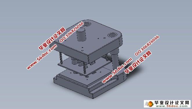 连接片冲孔,翻边,落料连续式复合模设计(cad,solidworks三维)