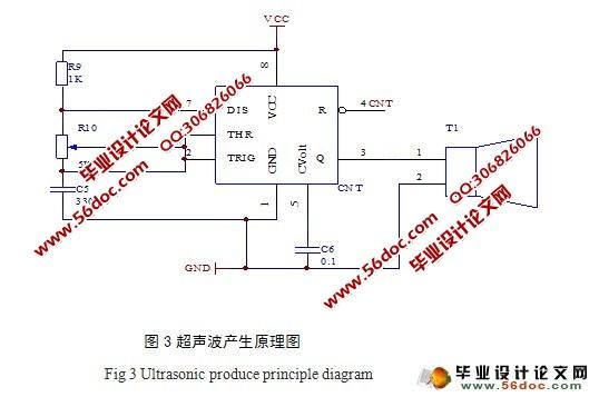 关键词:温度检测电路;超声波发射与接收;距离