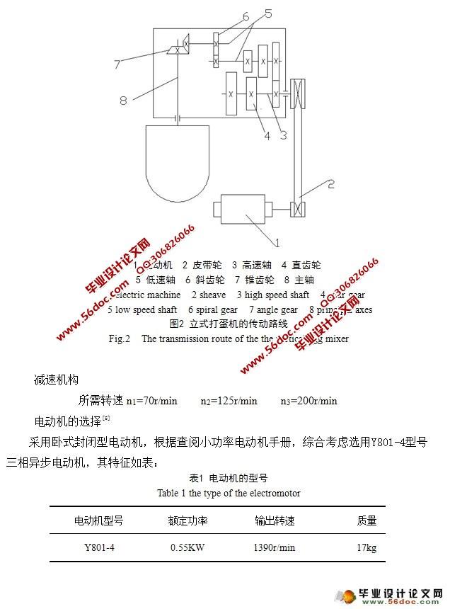 立式打蛋机设计(食品机械)(含cad零件图装配图)