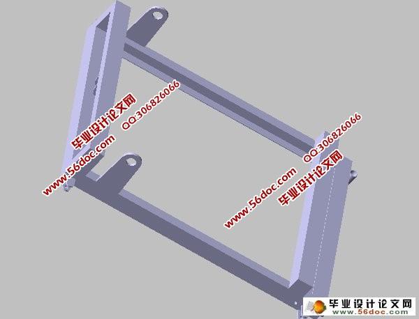 可拆式料位计检修平台的设计(catia二维三维图)图片