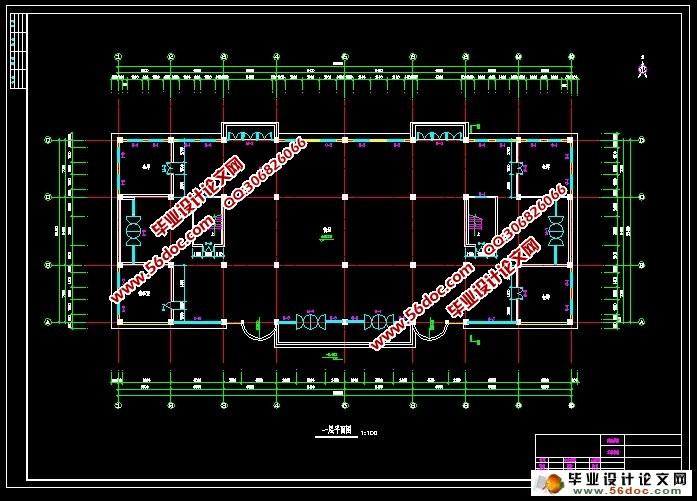 四层5000平米某商场框架结构设计(含施工组织,施工布置图,总平面