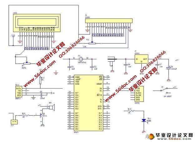 基于单片机的温湿度控制系统设计(附硬件原理图,程序)