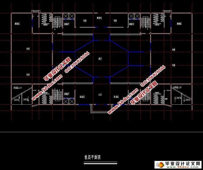 馆脚手架施工方案设计(含cad图)