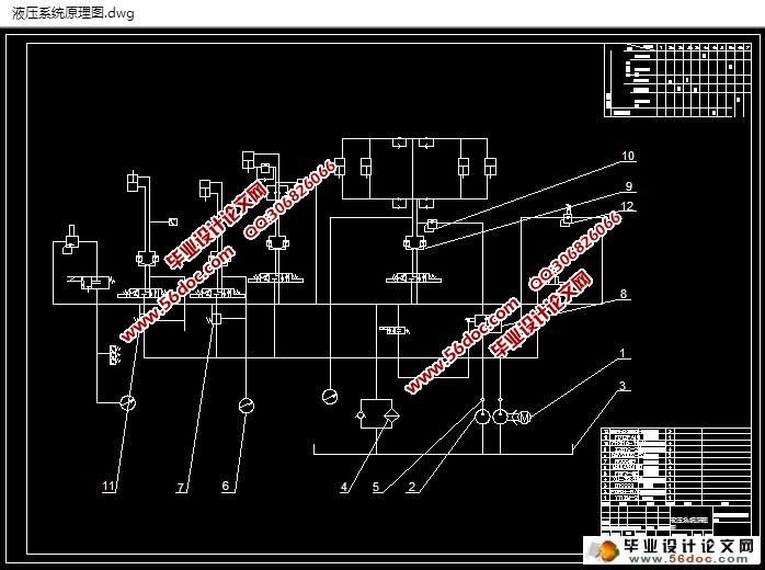 200挤出机液压执行机构系统设计(含CAD图)(任务书,文献综述,设计说明书1300字,CAD图纸5张) 摘要 随着时代的发展和现代工程技术的发展液压技术的应用日益增加,希望学会液压技术的工程技术人员越来越多。科学合理的规划和采用液压系统,对于擢升各种液压设备及装置的工作效能和技术功能有至关重要的意义。 液压机是一种根据帕斯卡原理制作而成用来传递能量,以液体为工作介质来制作各种工艺品的机器。一般本机(主机)、动力系统和液压控制系统三部分组成了液压机。主缸运动、顶出缸运动为液压系统的主要组成。 此次设计说明