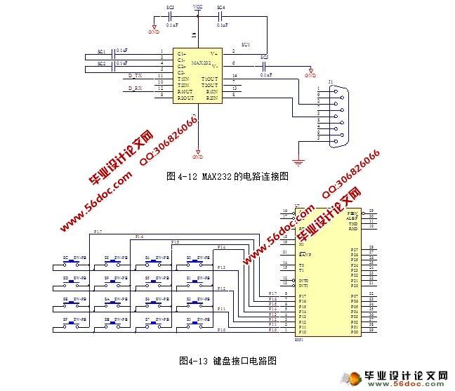 键盘用来输入密码;显示部分用来显示输入的密码;电源模块则为整个电路