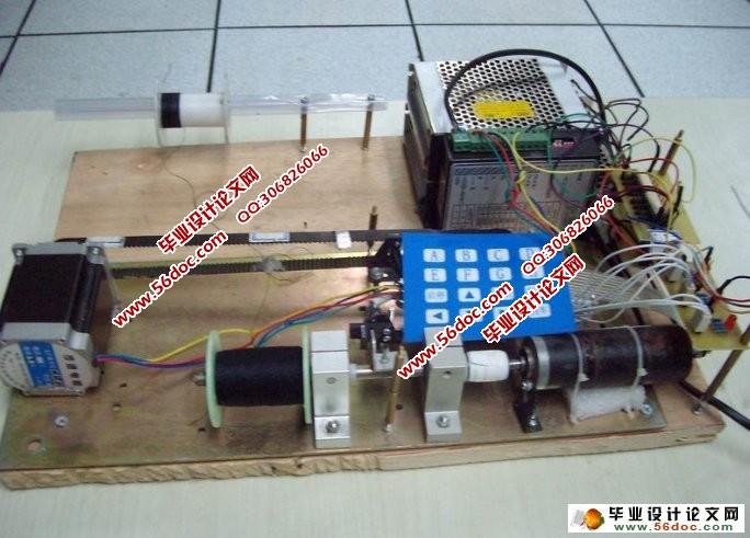 变压器的智能绕线功能系统(附程序,实物图,电路原理图