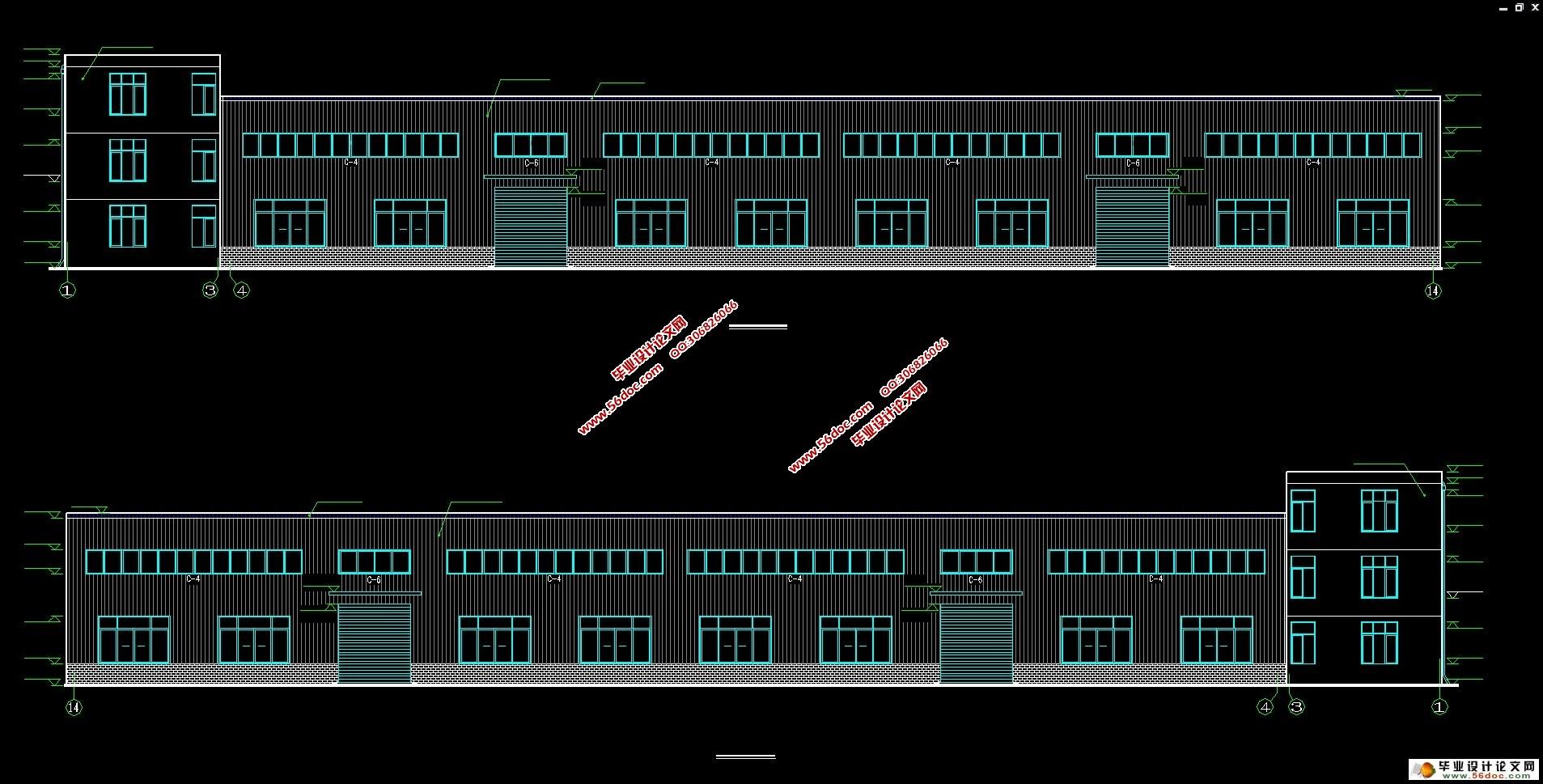 单层双跨(门式刚架)轻型钢结构工业厂房设计(建筑图,结构图)