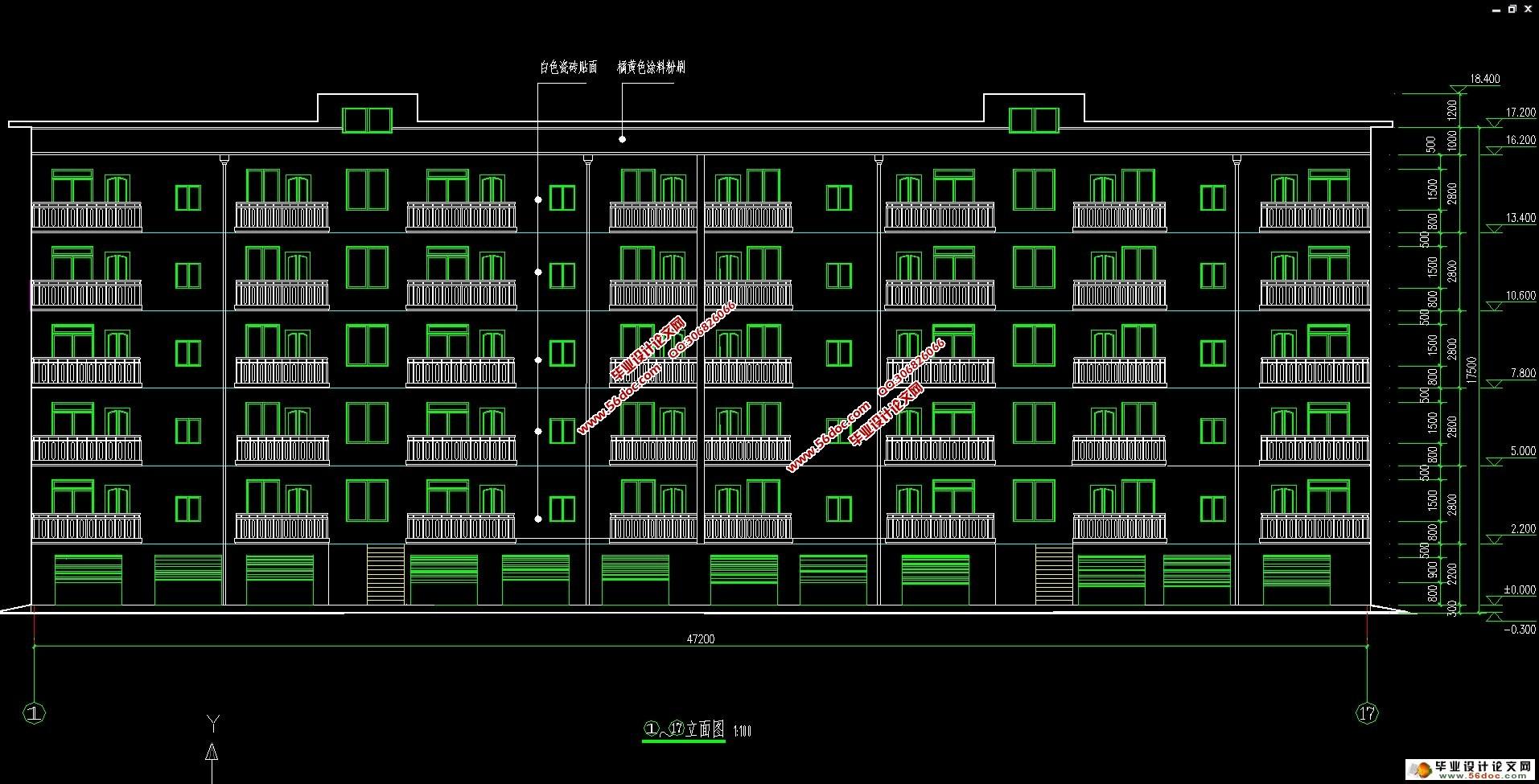 六层3000平米襄樊市小区住宅楼结构设计(建筑图,结构图)