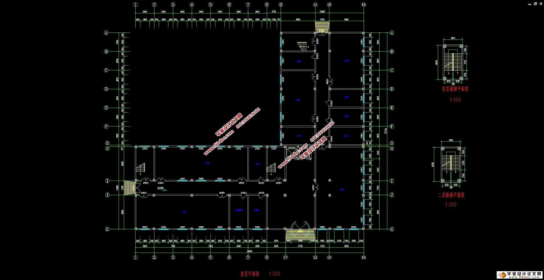 五层5300平米汨罗宾馆(建筑结构,电算和手算,工程量清单)(任务书,开题报告,电算计算书10000字,手算计算书10000字,工程量清单,建筑图12张,结构图14张) 工程概况 本工程是一栋五层宾馆,标准层高 3.3m,首层层高3.9m。采用钢筋混凝土框架结构,建筑工程等级为三级、耐火等级为三级,合理使用年限为 50 年,本地区为 7度抗震设防区。 1.