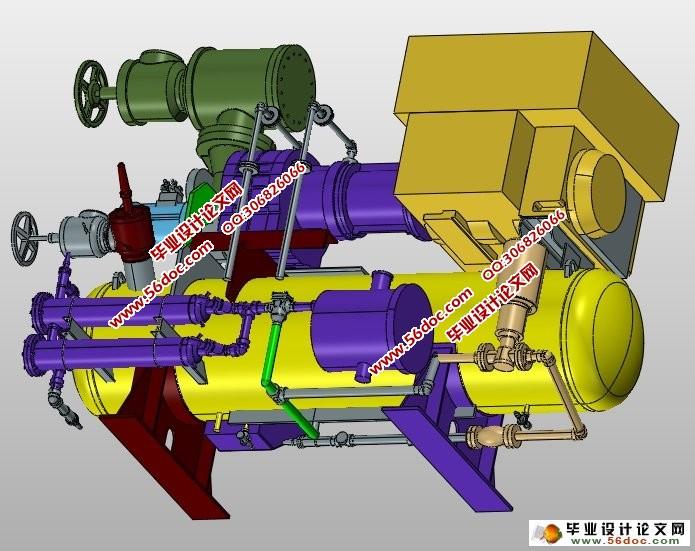 双螺杆压缩机的设计(含cad图,ug三维图)