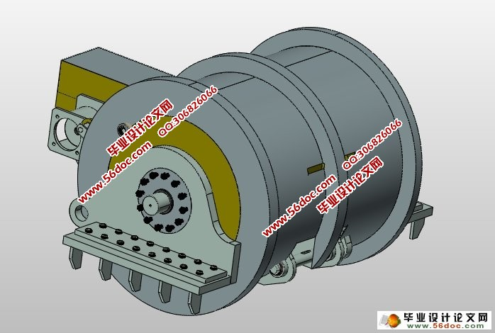 液压防爆提升机的设计和优化(含CAD图,PROE三维图)(任务书,论文说明书14700字,CAD图纸7张,PROE三维图) 本文主要研究内容 本设计在对液压防爆提升机的用途、工作原理、类型和发展历程经行掌握的基础上,通过对液压传动优缺点的分析及其与它类型提升机经行比较确定最终的技术方案;参考目前国内外液压防爆提升机的结构,对液压防爆提升机的整体结构进行设计,对其工作环境和技术特点经行分析,并进行相关的设计计算和校核。 (1)明确液压防爆提升机的工作原理和设计方案; (2)确定方案中钢丝绳、卷筒、液压马达和