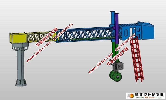 液压登机桥升降柱结构设计(含cad图,ug三维图)