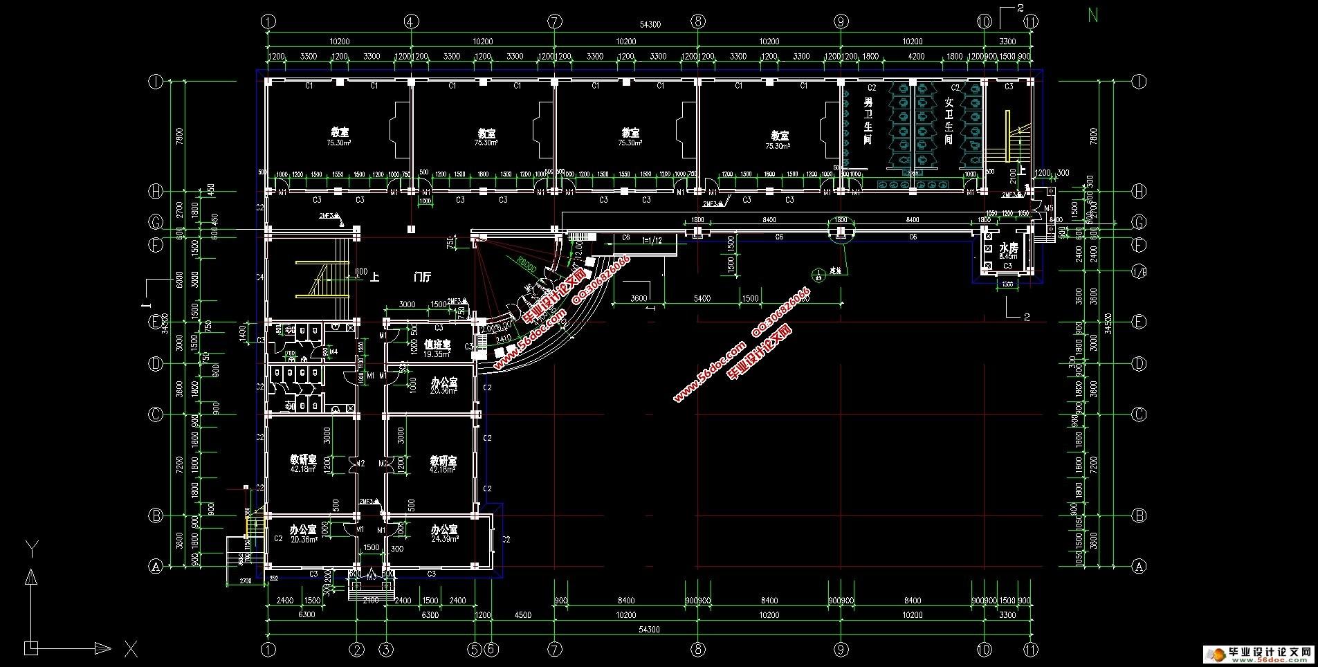 四层4000平米小学教学楼的v小学(建筑图,结构图渎第木三小学图片
