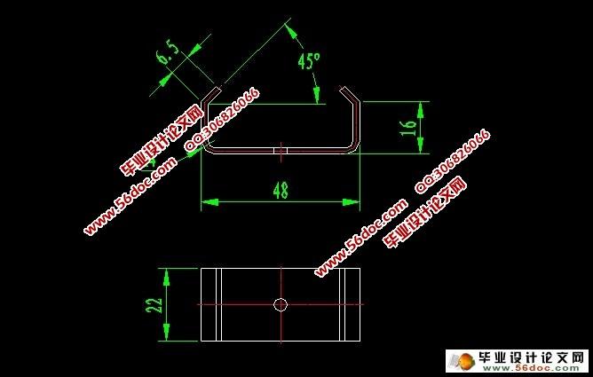 弯钩形零件弯曲模结构与设计(含cad零件装配图)
