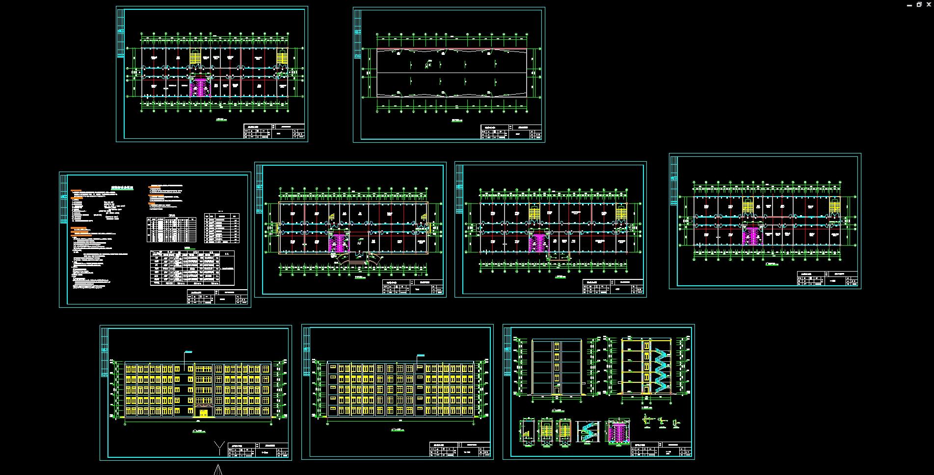 盐城大丰五层5000平米中学教学楼设计(建筑图,结构图)(计算书24500字