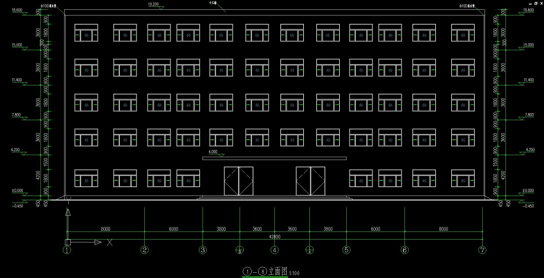 建筑结构  五层4000平米综合办公楼设计(建筑图,结构图)(任务书