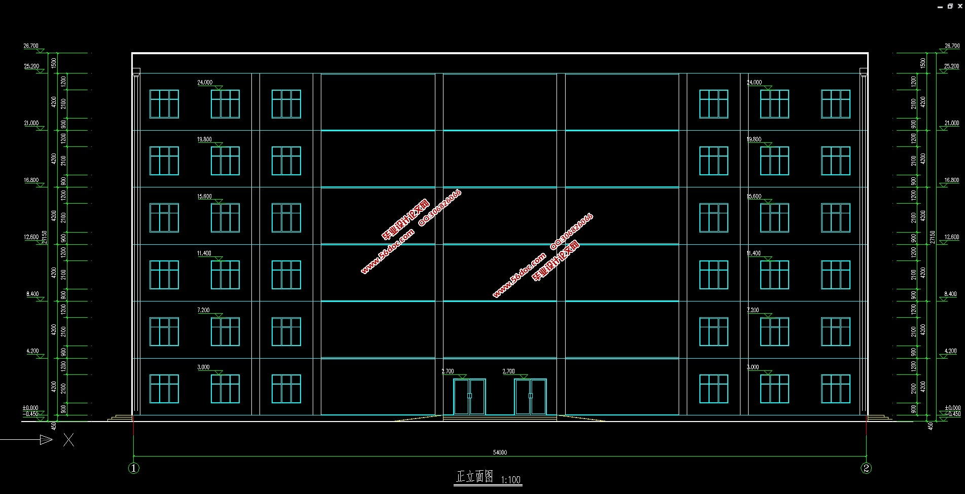 六层6228平米商场百货商店设计(建筑图,结构图)_毕业