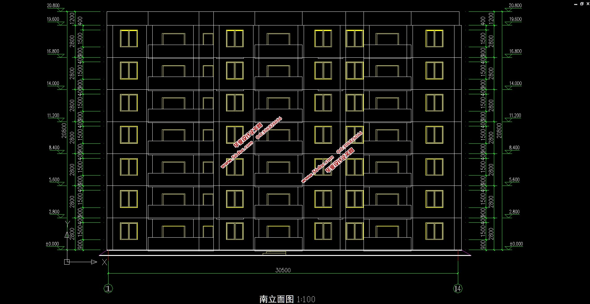建筑图8张,结构图8张)   本设计庆阳市西峰区某住宅小区1#楼施工图