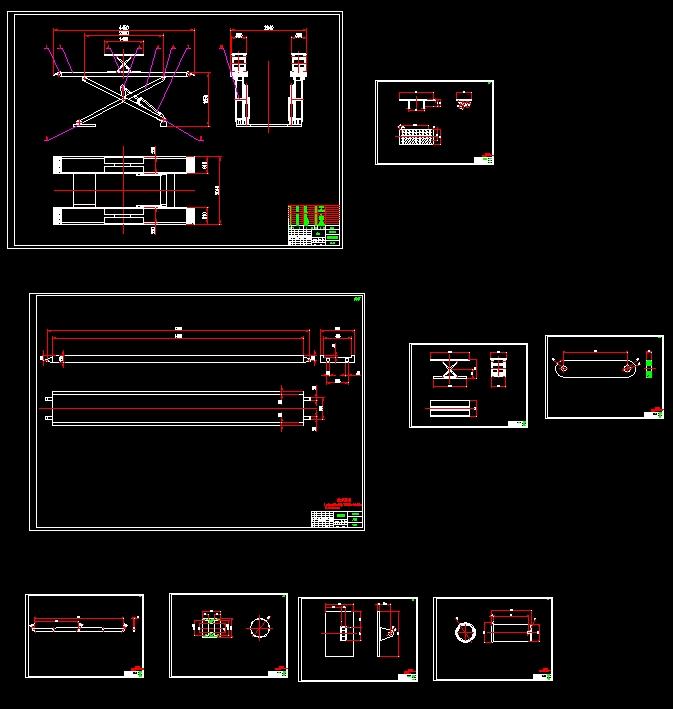 四轮定位举升机液压控制系统设计(含CAD图,SolidWorks三维)(论文说明书10900字,CAD图纸9张,SolidWorks三维图) Design of hydraulic control system for four wheel positioning and lifting machine for automobile 摘要 本篇设计是汽车用四轮定位举升机液压控制系统设计,主要是通过液压缸来驱动连接杆,而连接杆是说主连杆固接,这样就等于说控制了连杆在升降,而主连杆是一端通过滚轮支撑主大剪台一