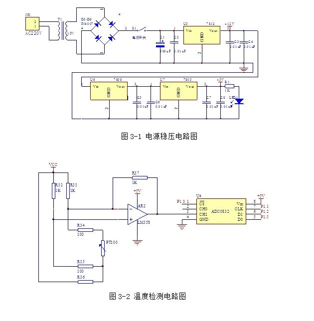 基于单片机的家用面包机控制系统的设计(含电路图,程序清单)