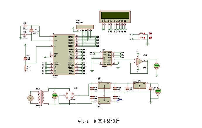 基于单片机数字式直流稳压电源设计(含原理图,proteus