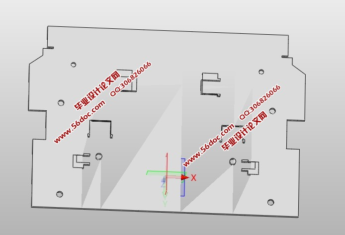 底板连接板冲压工艺和模具设计(含cad图,solidworks,step三维图)