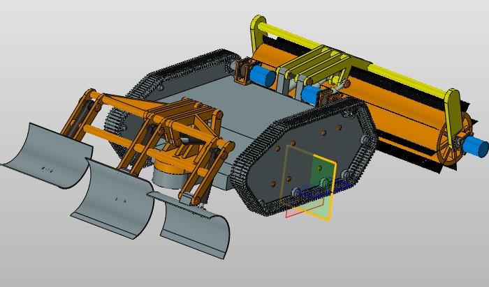 微型全自主掃雪機器人機械結構設計(含cad圖,ug三維圖