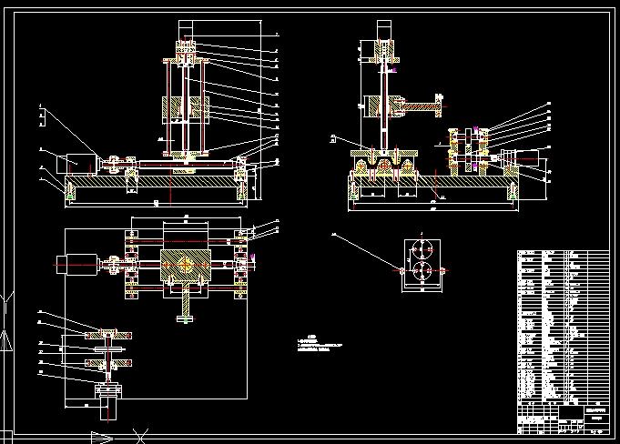 自动电焊机机械结构设计(含cad零件图装配图)