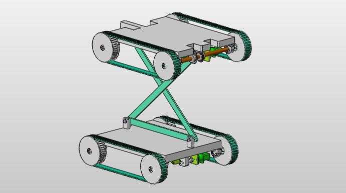 反平行四边形轮式移动机器人的设计(含CAD图,SolidWorks三维图)(论文说明书10200字,CAD图8张,SolidWorks三维图) 摘 要 机器人是一种能够模仿人类动作的机器,它可以完成许多对人类来说危险且单调的工作,机器人让人类从繁重、单调的工作中解脱出来。它们从事固定而有规律的工作,例如工业生产中的焊接、喷漆等等。 本文主要以反平行四边行机构为基础来设计反平行四边形轮式移动机器人的的整体方案。该机构采用统一动作、协调控制的原则,通过连杆的摆动来实现机器人主体的翻转从而进行越障的运动,该机器