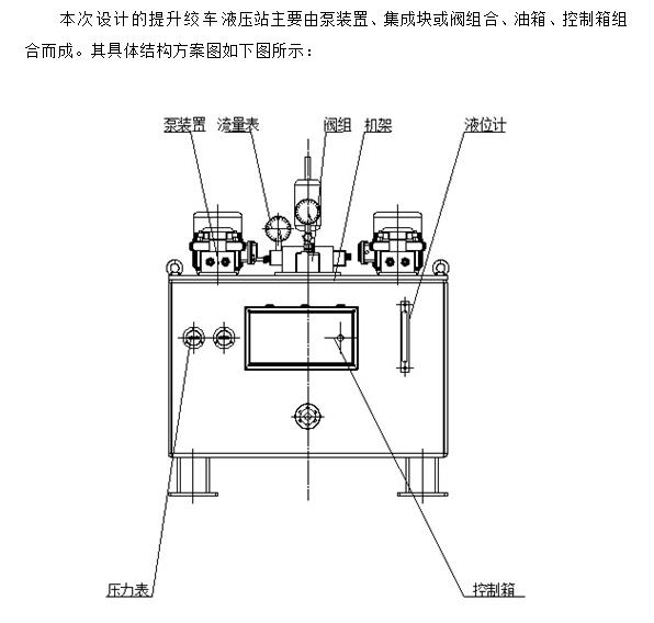提升绞车液压站设计(含cad零件装配图,solidworks三维图片
