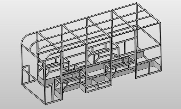 solidworks三维图)   本文介绍了汽车半承载式车身的结构组成,结构