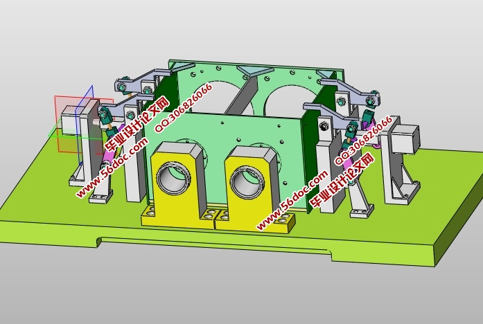 齿轮箱机械加工工艺及夹具设计(含CAD零件夹具图,SolidWorks,IGS三维)(论文说明书9900字,CAD图4张,SolidWorks三维图,IGS通用三维格式,工艺卡,工序卡) 摘 要 齿轮箱箱体是齿轮箱的重要零件,其作用是支承传动轴,保证各轴之间的中心距及平行度,并保证齿轮箱体部件与其他部件正确安装。本论文主要论述齿轮箱箱箱体机械加工工艺专用夹具的设计。在对齿轮箱齿轮箱体及工艺分析的基础上,合理地选择了毛坯,确定了加工方法,拟定了零件的工艺路线。根据加工过程中的技术要求编写了工艺过程卡和工序卡