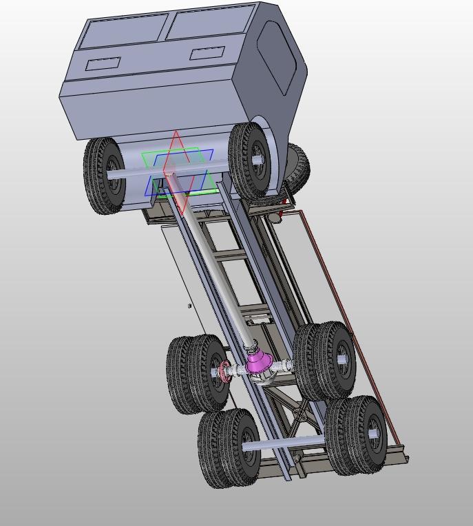 煤炭采样车底盘结构的设计(含CAD零件装配图,SolidWorks三维图)(论文说明书11000字,CAD图纸9张,SolidWorks三维图) 本文介绍了煤炭采样车底盘的结构组成、结构原理以及主要零部件的设计中所必须的理论计算,由于煤炭采样车底盘在多样化、安全稳定方面的优点日益突出,并且其使用和维护都很方便,相信在不久的将来,该新型煤炭采样车底盘的应用将会越来越普及。 关键词:煤炭采样车底盘 稳定 结构 应用 底盘的组成 煤炭采样车底盘结构主要由: 传动系:主要是由离合器、变速器、万向节、传动轴和驱动桥