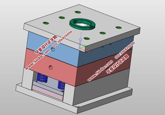 三孔面板插座塑料模具设计(含cad零件装配图,ug三维图